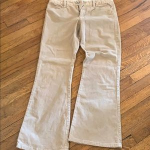 Tan flare corduroy pants